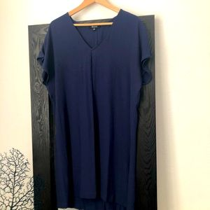 Made well navy blue dress. Large large